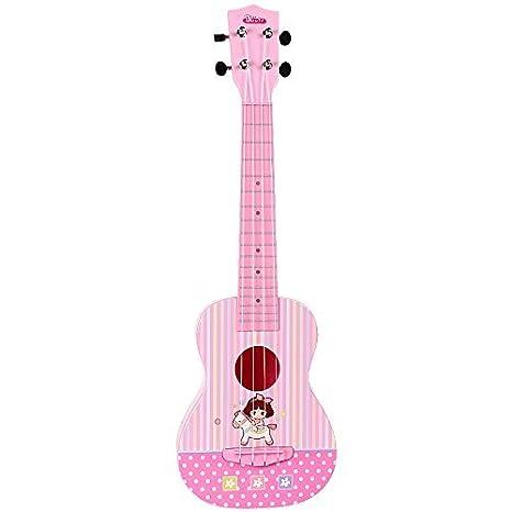 aPerfectLife Hermosa melodía 4 cuerdas niños música Ukulele guitarra niños Instrumentos musicales juguetes educativos para niños