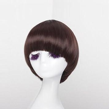Amazon Mushroom Bob Straight Bang Short Straight Women Wig