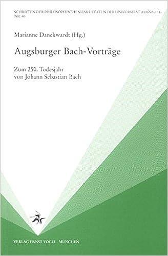 Augsburger Bach-Vortr�ge