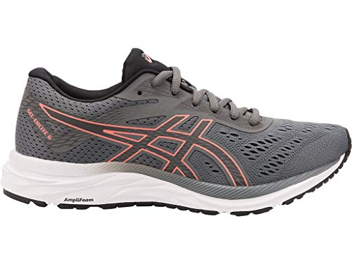 ASICS Women's Gel-Excite 6 Running Shoes, 7M, Steel Grey/Papaya