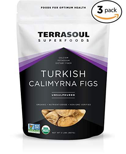 Terrasoul Superfoods Organic Turkish Figs (Calimyrna), 6 Pounds