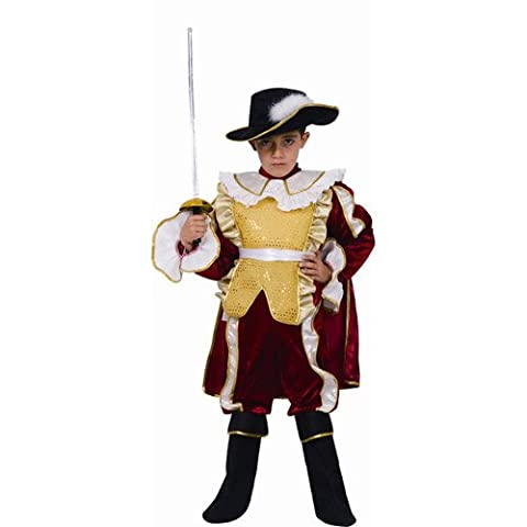 Red Noble Knight Child Dress Up Costume - Large 12-14