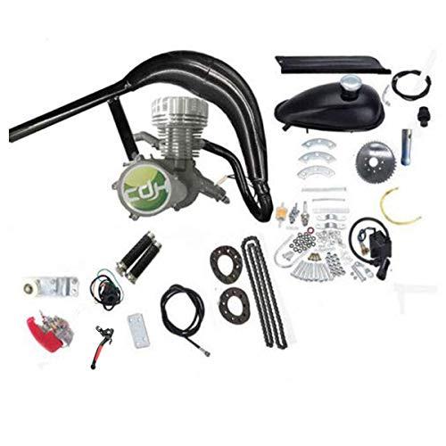 Super PK80 /66cc/80cc with Silver Big Racing Head Black CDH66 Muffler Gas Motorized ()