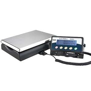 15kg/0,5tc15kp del paquete–Báscula digital de plataforma la Industria Báscula Balanza de mesa (posibilidad de funcionamiento con batería g & G