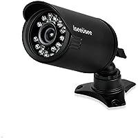 ISEEUSEE 720P Video Security Camera 1.3MP 1200TVL Indoor/Outdoor Night Vision Bullet Video security Cameras- Black