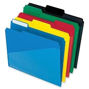 Pendaflex Hot Pocket Poly File Folders, 1/3 Cut, Top Tab, Assorted Colors, 25 per Box (515)