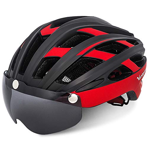 VICTGOAL Bike Helmet for Men Women with Safety Led Back Light Detachable Magnetic Goggles Visor...
