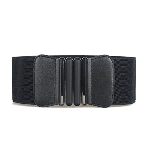 Women's Fashion Obi Style Elastic Stretch Wide Waist Belt Retro Buckle Band