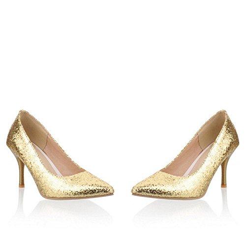 Schuhe Shiny Gold Frauen Stiletto Coolcept Party 8aFwxq5H