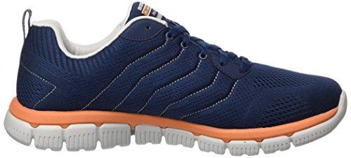 Hommes Skechers-flex 2.0 Chaussures De Fitness En Plein Air (bleu) Navant