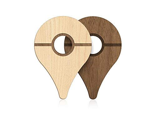 POKEWARES Shield Combo Set for Go Plus - Collect Them All - Slim Genuine Wood - Peel-N-Stick (Natural Hardwood Skin and Premium Walnut Skin)