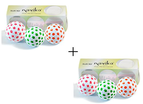 (Navika Golf Balls- Polka Dots Pink, Green, and Orange Combo (2 Pack))