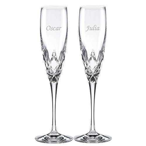 Custom Lenox Venetian Lace Signature Champagne Flute Pair, Set of 2 Flutes, Personalized Venetian Lace Toasting Flutes, Personalized Wedding Flutes, Monogrammed Flutes, Crystal Champagne Flutes by The Crystal Shoppe (Image #7)