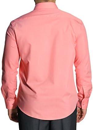 MMUGA - Camisa formal - Cuello ala - Manga Larga - para hombre Naranja Salmon Orange 50: Amazon.es: Ropa y accesorios