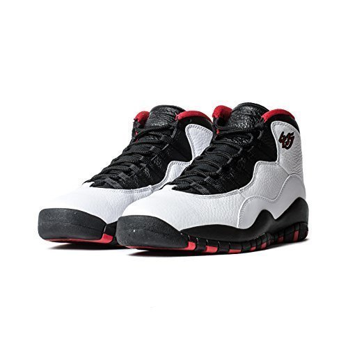 Air Jordan 10 Retro Big Kids Style, White/Black/True Red, 4 by NIKE