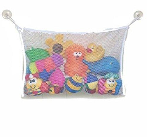 Praktische Baby Kleinkindspielzeug Lagerung Saugnapf Tasche Ineinander greifen-Netz Badezimmer Veranstalter Badewanne Spielzeugtasche (L)