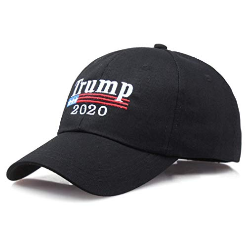 (Jaskin Unisex Casual Embroidered Baseball Cap Sun Protection Adjustable Trucker Hat(Black))