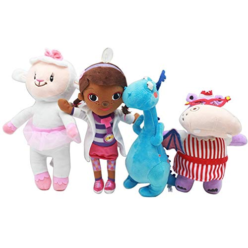 Grocoto Movies & TV PP Cotton Plush Toys Doctor McStuffins Muffin Little Girl Plush Doll Blue Dragon Sheep Kids Toys for Baby Gift 1 -