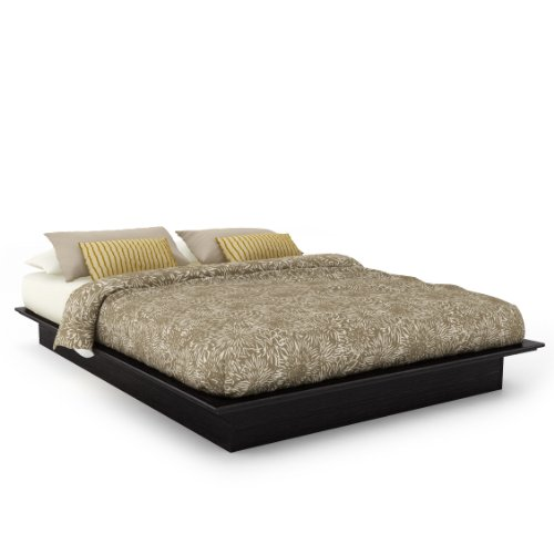 Sonax Q-102-LPB Plateau Queen Platform Bed in Ravenwood Black (Plateau Bed Platform)