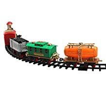 Lifelike Classic Electric Track Train Set with Sound and Smoke Children Toy Gift