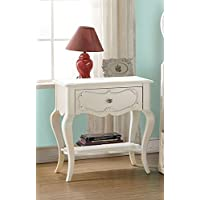 ACME Furniture 30509 Edalene Nightstand, Pearl White