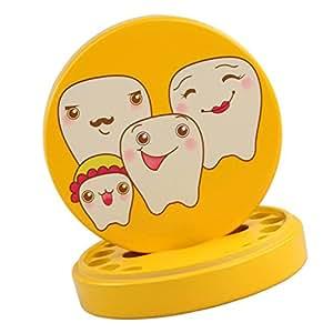 MagiDeal Caja de Almacenaje de Dientes de Leche de Bebé Lanugo Pelo Guardar - Amarillo (precio: 8,19€)