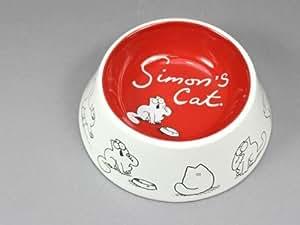 Simons Cat - Cuenco para comida de gato, diseño de gato Simon, bicolor