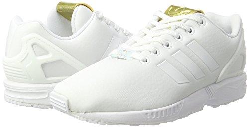 gold Donna Ginnastica Basse footwear Bianco Adidas Scarpe Zx Da White footwear Flux White Metallic SYWwpxg