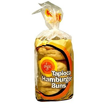 Ener-G Foods Tapioca Hamburger Buns, 7.76-Ounce Units (12-Pack) by ENER G FOODS