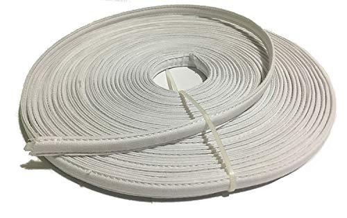 "Item4ever Cotton Covered Poly Polyester Boning 1/4"" - 1/2"" Polypropylene 12 Yard (White)"