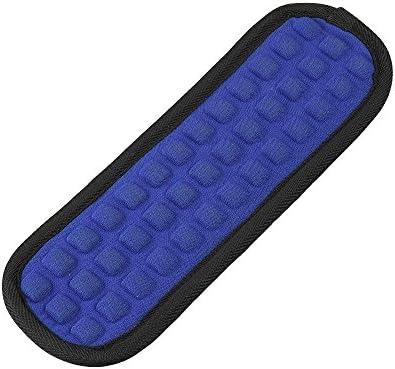 Qishare abnehmbare Schultergurt Auflage Weiche Luftkissen Wiedereinbau Auflage für Bügel(Blau-1Pcs)
