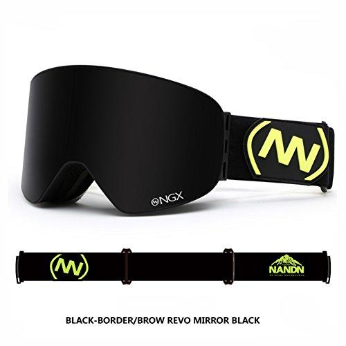 SE7VEN Masques De Ski Adulte Anti Brouillard,Unisexe Lentille Double Couche Sphériques Snowboard Goggle Otg D