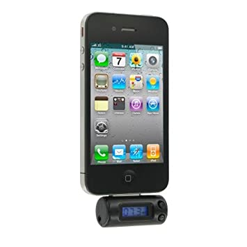 KitSound In-Car FM Radio Transmitter with 30-Pin Connection for iPhone 3/3G/3GS/4/4S, iPad 2/3, iPod Touch 4th Generation and iPod Nano 6th Generation - Black KSMYFM driving stereo home apple speaker Apple-accessory Griffin music itouch Portable_Electronic