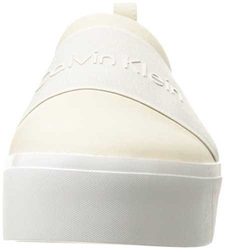 White soft Donna Calvin Bianco Klein elastic Cervo Pantofole Stivaletto Jacinta A wvqg6