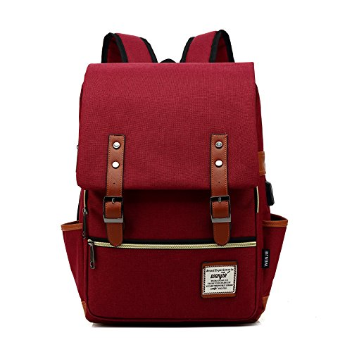 mancio-slim-laptop-backpack-with-usb-charging-portvintage-tear-resistant-business-bag-for-travel-college-school-casual-daypacks-for-manwomen-fits-up-to-15-6inch-macbook-red