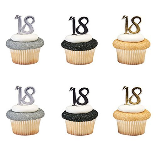 Happy 18th Birthday Cupcake Toppers Pics - 24 - Cupcake Birthday