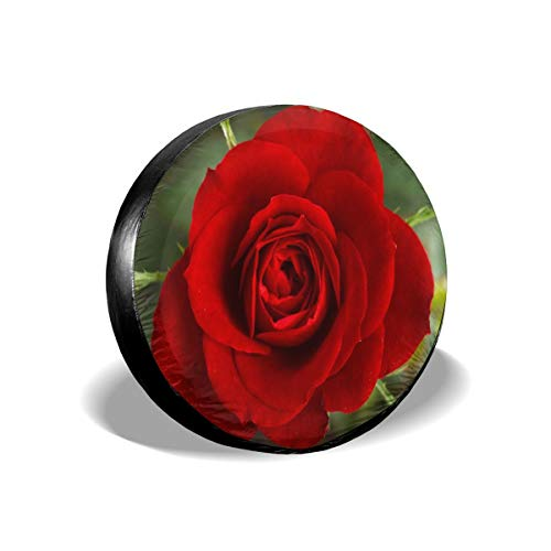 (Alger Leigh Spare Tire Cover Small Red Rose Wheel Covers Universal Tires Protectors 16 inch)
