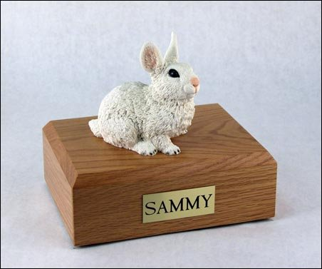 GENUINE North American Hardwood and Rabbit Bunny Figurine Urn Small by Ever My Pet
