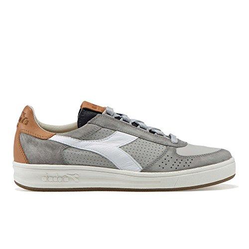 Uomo Sneakers ITA 2 Diadora Grigio B Pelle Heritage EU Elite 42 f1HAFnBq