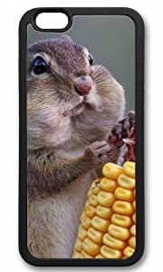 Cute Chipmunk Eating Corn animal Easter Thanksgiving Masterpiece Limited Design tpu black Case for iphone 6 by Cases & Mousepads