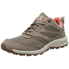 Jack Wolfskin Woodland Vent Low, Zapatillas para Caminar para Mujer, Clay/Pink, 39.5 EU