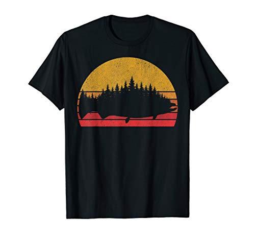 Salmon Fishing Retro Treeline King Salmon Fisherman Gift T-Shirt
