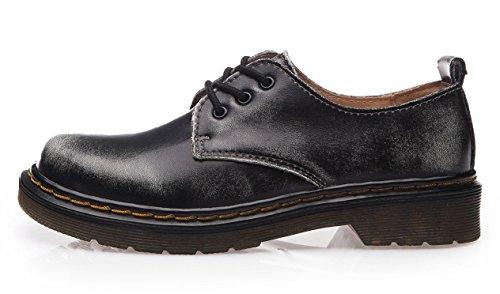 Classiques Ubeauty Flattie Bottines À Chaussures Femme Sport Lacets Boots Bottes Gris Yq1rY