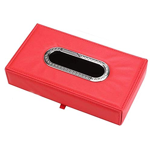 Contenedor de basura del coche Bolsa de servilleta de papel de moda simple portatil Soporte de caja de panuelos faciales de coche Caja de panuelos de marco metalico, para la mayoria de los automoviles