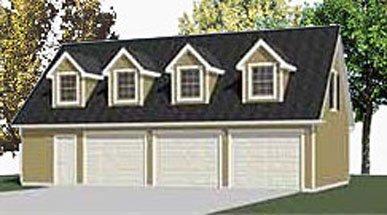 Amazon.com: Garage Plans: Two Car Garage With Loft Apartment ...