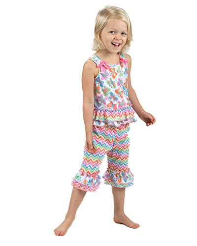 Laura Dare Baby Girls Flutterby Bow Top Pajamas