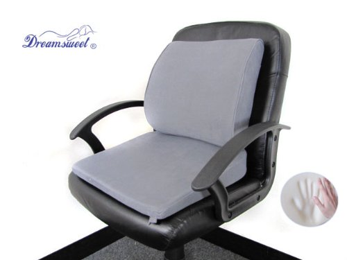 Memory Foam Seat Wedge Cushion + High-Resilient Foam Lumb...