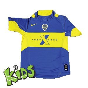fan products of Nike Junior Boca Juniors Centenary 2005 Home Junior Football Shirt Size S