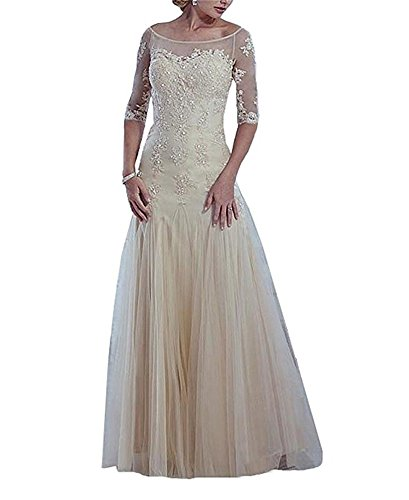 ivory mother of the bride plus size dresses - 8