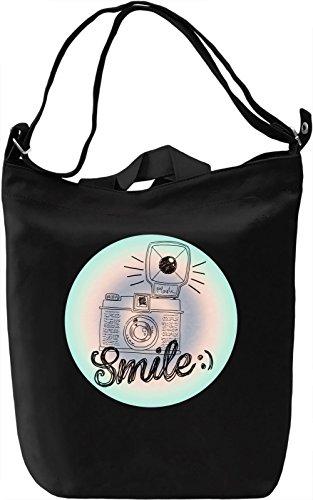 Smile Borsa Giornaliera Canvas Canvas Day Bag| 100% Premium Cotton Canvas| DTG Printing|
